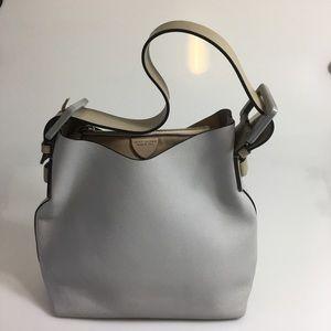 MARC JACOBS Victoria Grey Hobo Leather Handbag